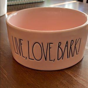 Rae Dunn pet bowl pink